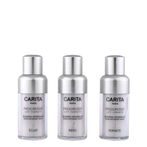 Carita Skincare Progressif Lift Fermetè Jeunesse Intensif Nuit 3X15ml - programme revitalisant des peaux fatiguées