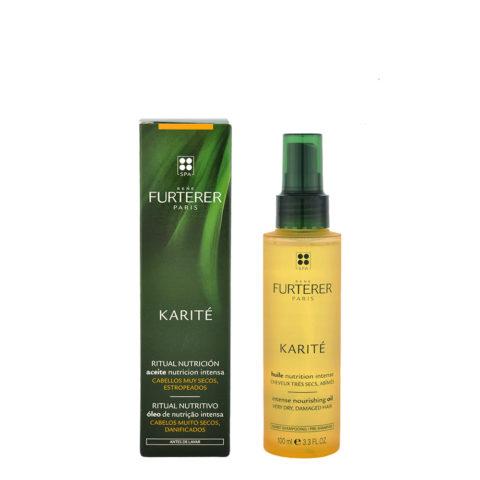 René Furterer Karité Intense Nourishing Oil 100ml - huile avant-shampooing nutrition intense
