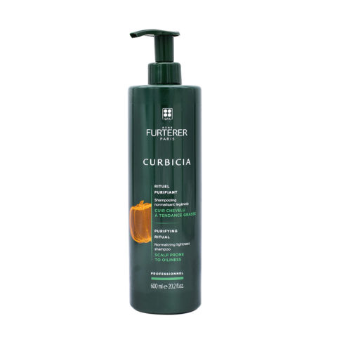 René Furterer Curbicia Normalizing Lightness Shampoo 600ml - shampooing normalizant légèreté