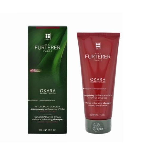 René Furterer Okara Radiance Enhancing Shampoo 200ml - shampooing pour cheveux colorés