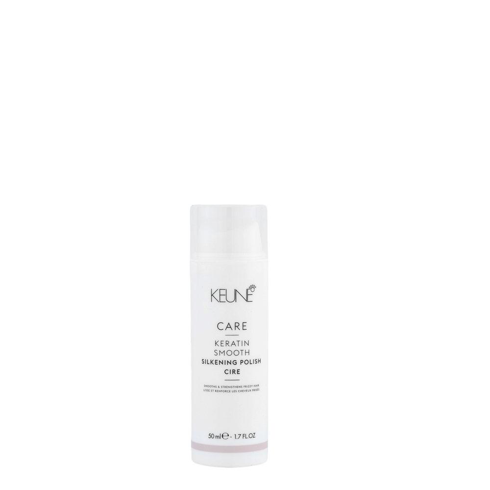Keune Care Line Keratin smooth Silkening Polish 50ml - Cire Douce Soyeuse De Définition Anti - Frisottis