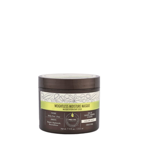 Macadamia Weightless moisture Masque 222ml - masque hydratant léger