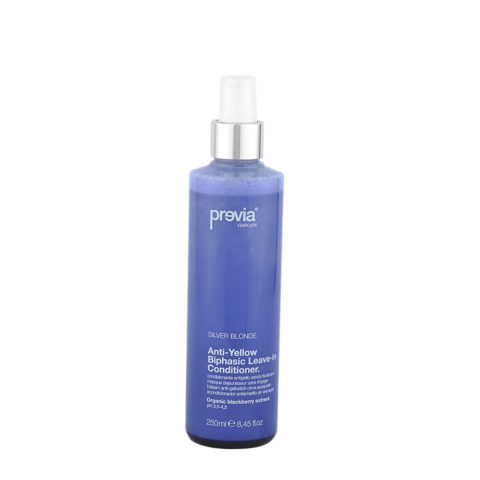 Previa Silver Blonde Anti-Yellow Biphasic Leave in Conditioner 250ml - masque dejaunisseur sans rincage