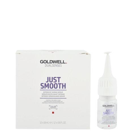 Goldwell Dualsenses Just Smooth Intensive Taming Serum 12x18ml - Sérum Disciplinant Intense