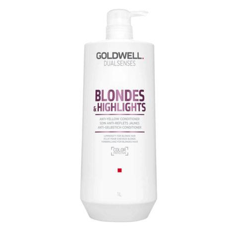 Goldwell Dualsenses blond & highlights Anti-Yellow Conditioner 1000ml - après-shampooing Anti-Jaune