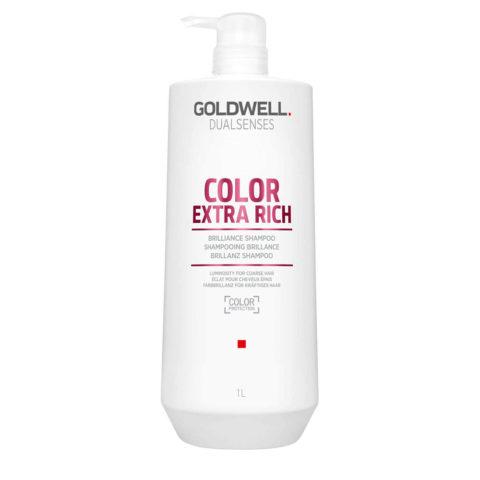 Goldwell Dualsenses Color ExtraRich Brilliance Shampoo 1000ml - Shampooing cheveux colorès gros