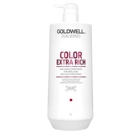 Goldwell Dualsenses Color Extrarich Brilliance Conditioner 1000ml - après-shampooing cheveux colourès gros