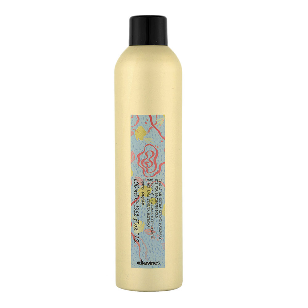 Davines More inside Extra Strong hairspray 400ml - laque extra forte