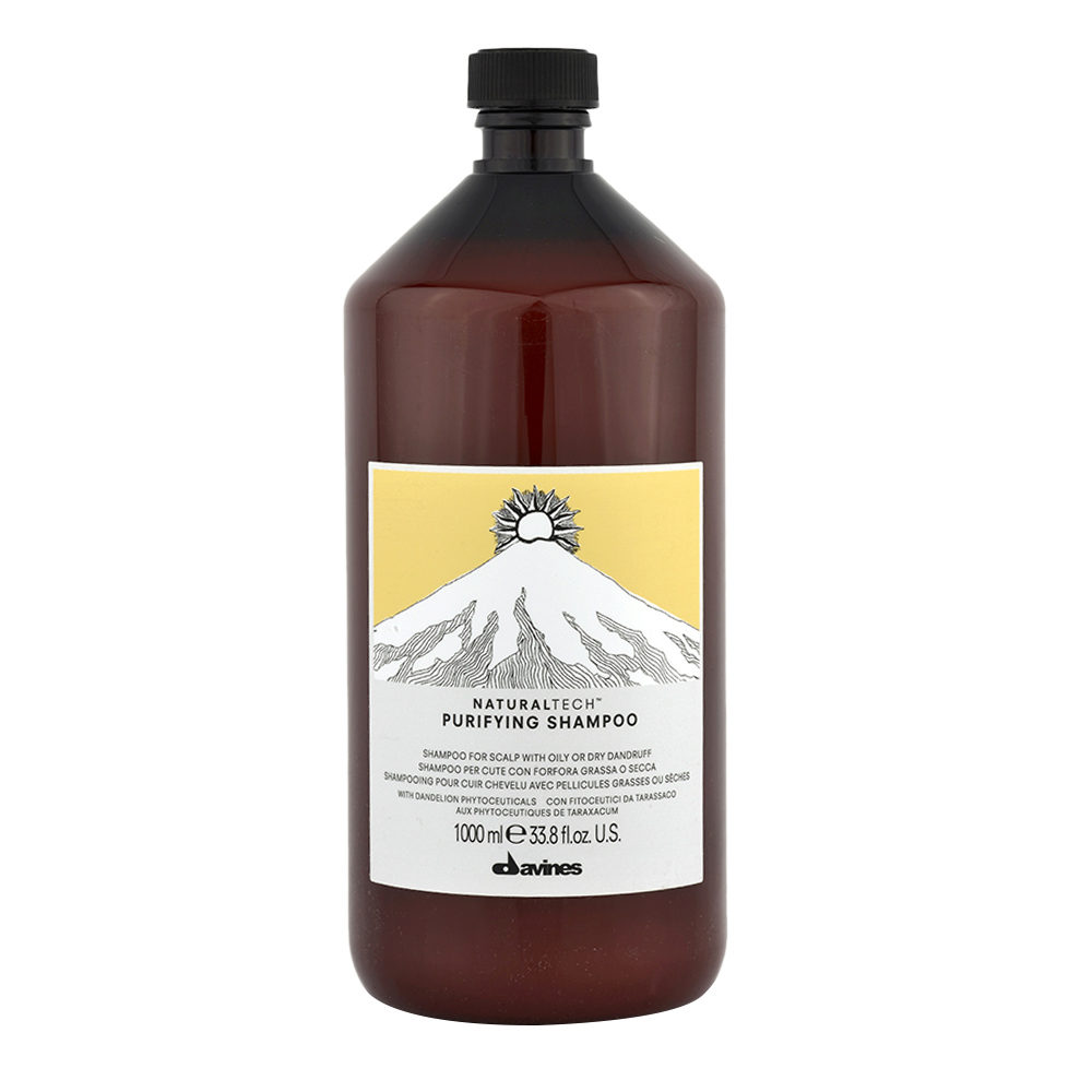 Davines Naturaltech Purifying Shampoo 1000ml - Shampooing pour cheveux avec pellicule