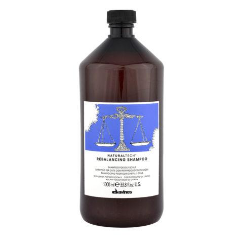 Davines Naturaltech Rebalancing Shampoo 1000ml - shampooing rééquilibrage