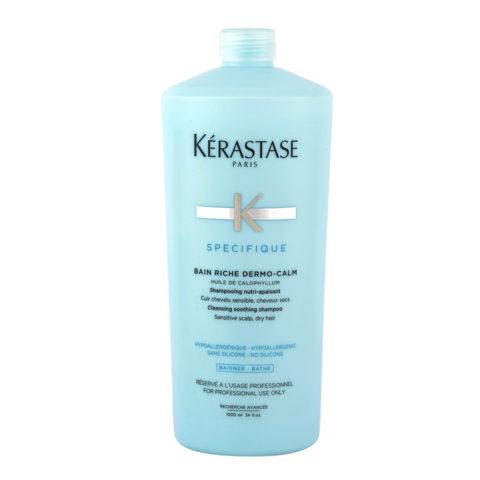 Kerastase Specifique Bain Riche dermo-calm 1000ml - Shampooing apaisant et purifiant