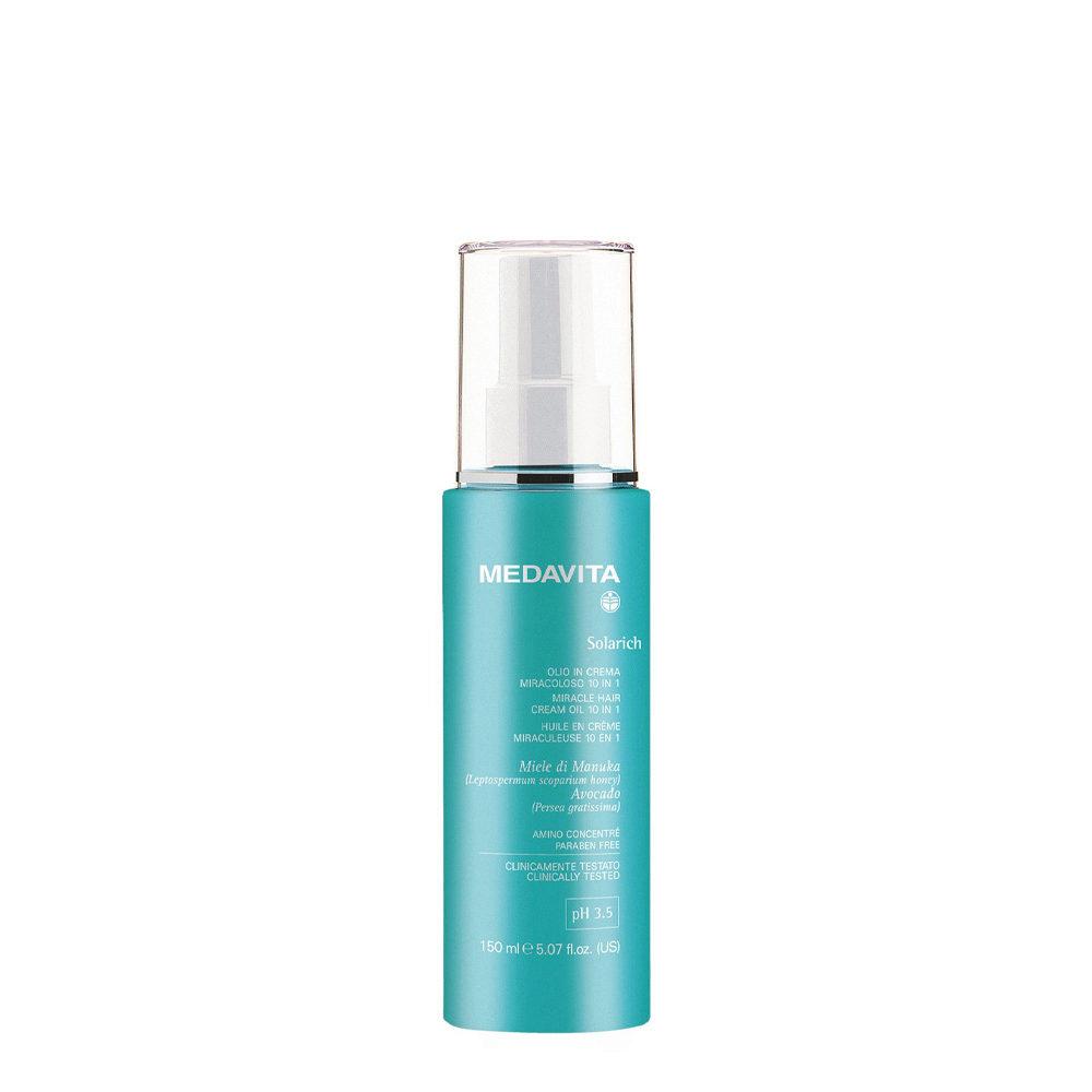 Medavita Lunghezze Solarich Miracle hair Cream Oil 10in1,  150ml - Huile en crème 10 actions en 1