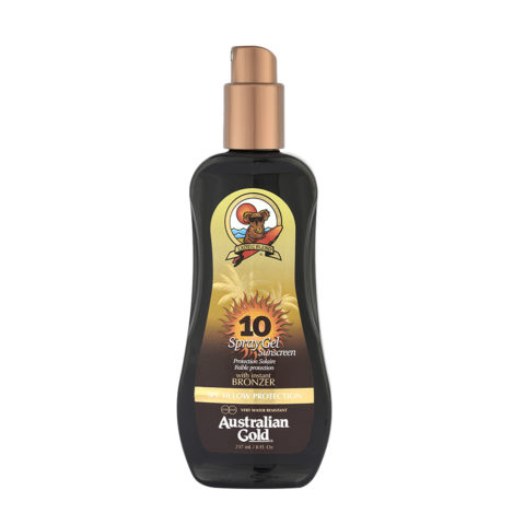 Australian Gold Protection Solaire SPF10 Spray Gel avec Agents Bronzants 237ml