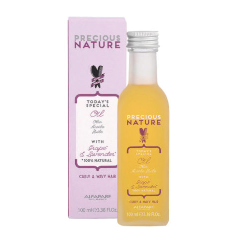 Alfaparf Precious Nature Oil With Grape & Lavender For Curly & Wavy Hair 100ml - Huile Avec Grape & Lavender
