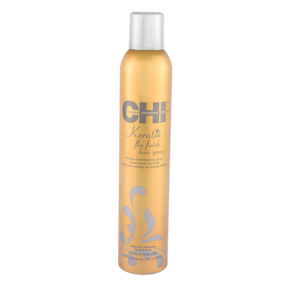 CHI Keratin Flex Finish Hairspray 284gr - laque tenue souple