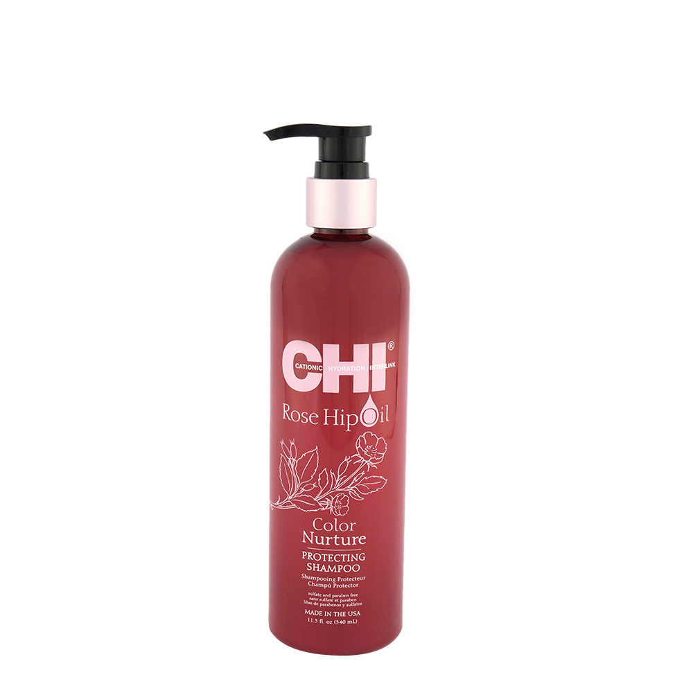 CHI Rose Hip Oil Protecting Shampoo 340ml - shampooing protecteur