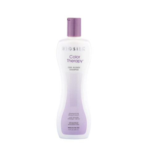 Biosilk Color Therapy Cool Blonde Shampoo 355ml - shampooing déjaunisseur