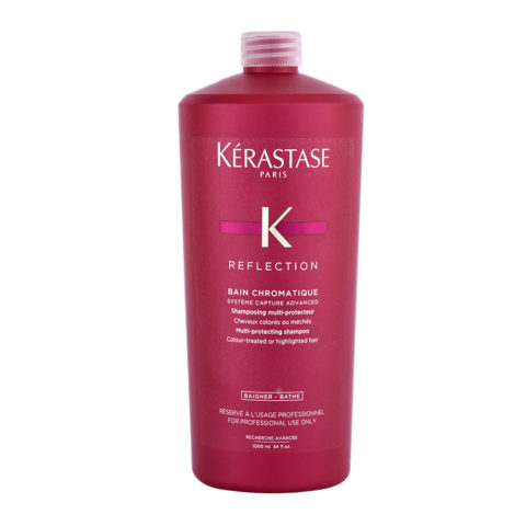 Kerastase New Réflection Bain Chromatique 1000ml - shampooing cheveux fins et colorés
