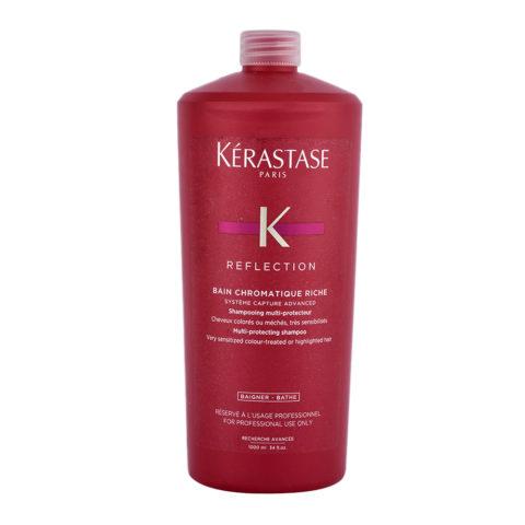 Kerastase Reflection Bain Chromatique Riche 1000ml - shampooing cheveux colorés, très sensibilisés et épais