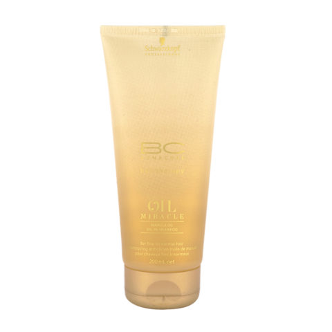 Schwarzkopf Professional BC Oil Miracle Marula Oil shampoo Fine to normal hair 200ml - Shampooing cheveux fins