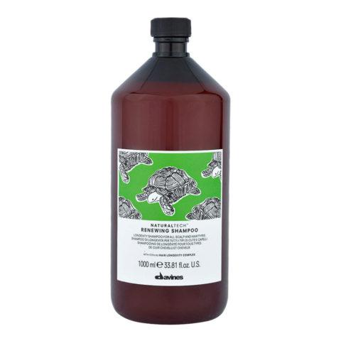 Davines Naturaltech Renewing Shampoo 1000ml - shampooing de longévité tour types de cheveux