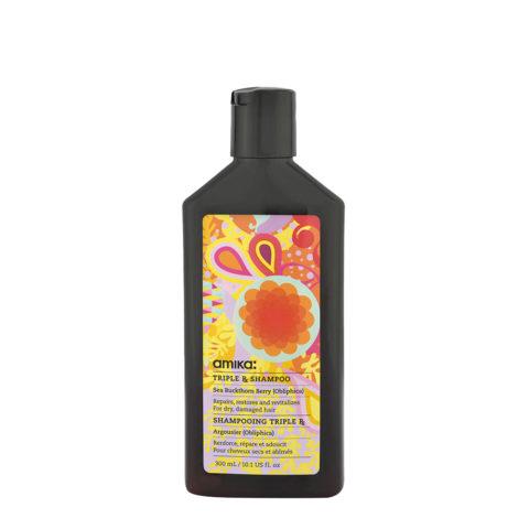 amika: Treatment Triple Rx Shampoo 300ml - shampooing à la kératine pour cheveux abîmés