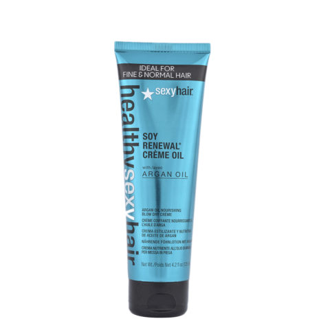 Healthy Sexy Hair Soy Renewal Creme Oil Nourishing Blow Dry Creme 125ml - huile à la crème de finition