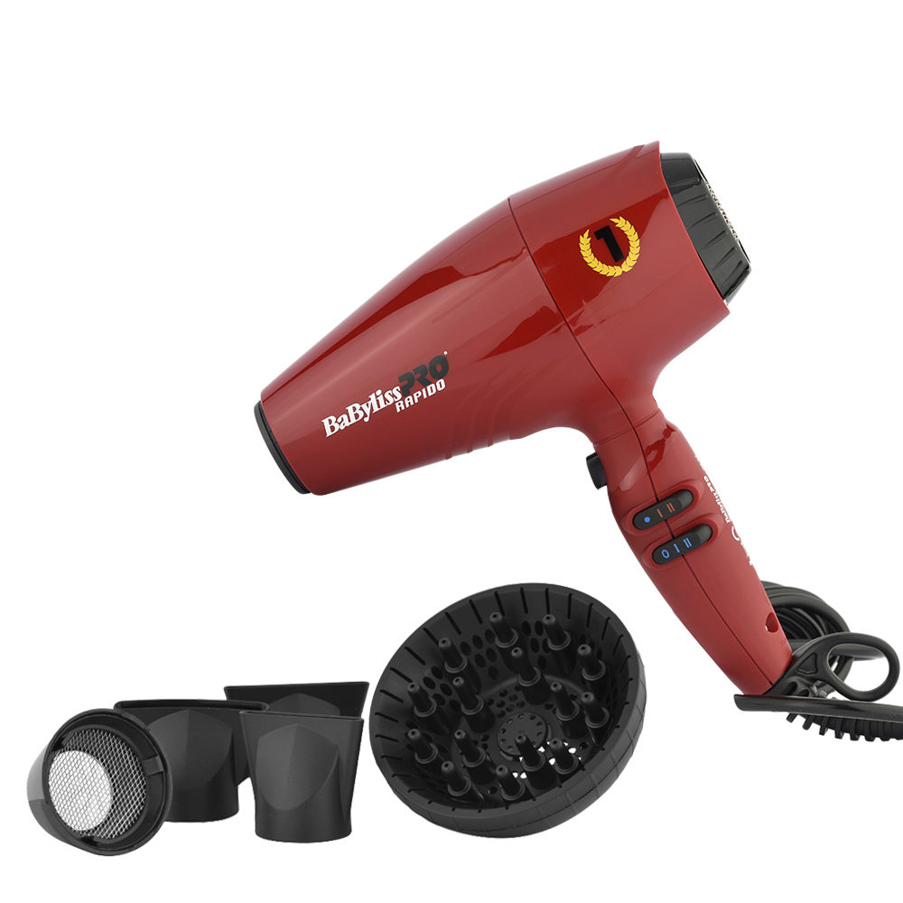 Babyliss Pro Sèche-cheveux Rapido Red BAB7000IRE - Rouge