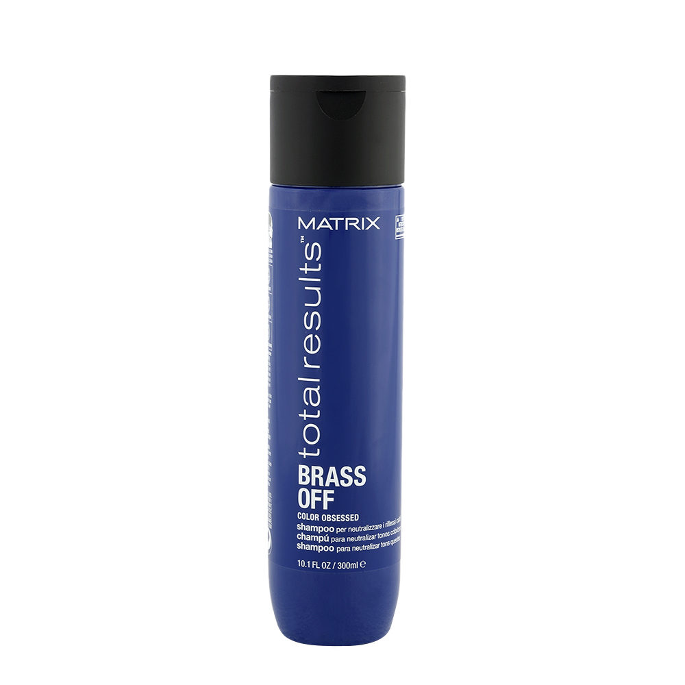 Matrix Total Results Brass Off Shampoo 300ml - shampooing pour neutraliser les reflets chauds