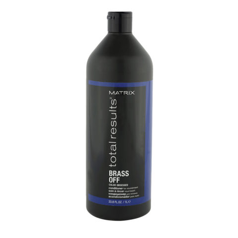 Matrix Total Results Brass Off Conditioner 1000ml - apres shampooing pour neutraliser les reflets chauds
