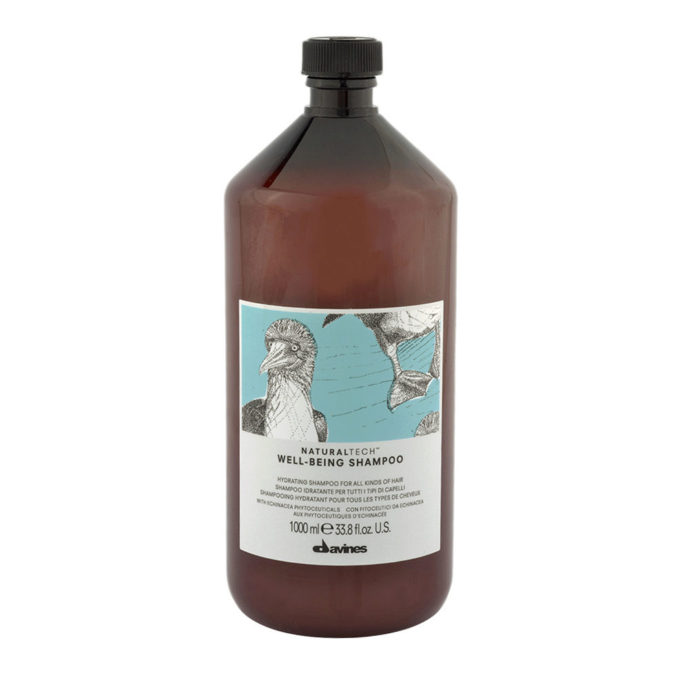 Davines Naturaltech Wellbeing Shampoo 1000ml - Shampooing hydratant