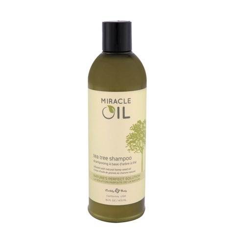 Earthly Body Miracle Oil Tea Tree Shampoo 473ml - shampooing à base d'arbre à thé