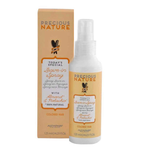 Alfaparf Precious nature Leave-in spray with Almond & pistachio for Colored hair 125ml - apres shampooing sans rinçage