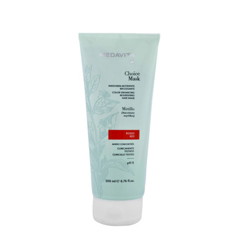 Medavita Lunghezze Choice Mask Rouge 200ml - Masque Raviveur De Reflets