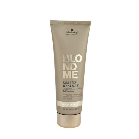 Schwarzkopf Blond Me Keratin Restore Bonding Shampoo Sulfate free 250ml - shampoo reconstruction