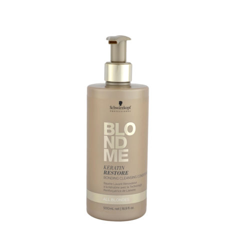 Schwarzkopf Blond Me Keratin Restore Bonding Cleansing Conditioner 500ml - baume de reconstruction