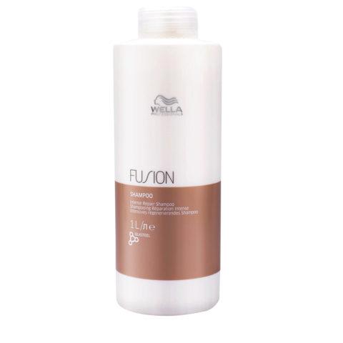 Wella Fusion Shampoo 1000ml - shampooing réparation intense