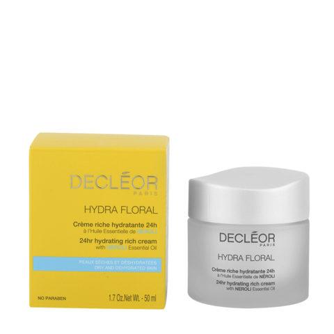 Decléor Hydra Floral Neroli Crème riche hydratante 24h, 50ml