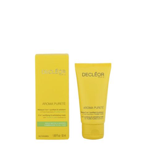 Decléor Aroma Pureté Ylang-Ylang Masque 2 en 1 purifiant & exfoliant 50ml