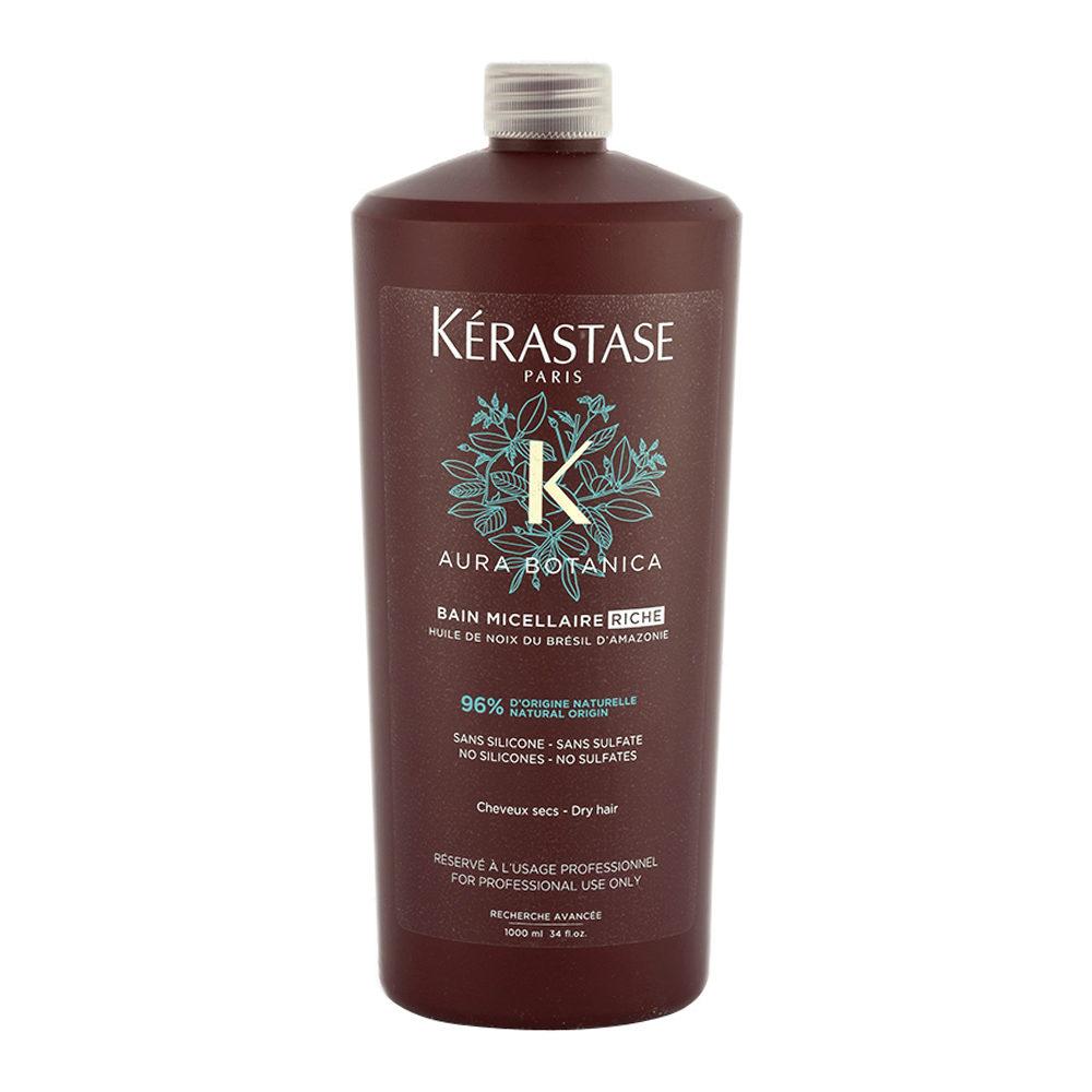 Kerastase Aura Botanica Bain Micellaire Riche 1000ml - Shampooing cheveux dévitalisés et gros