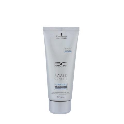 Schwarzkopf BC Bonacure Scalp Genesis Purifying Shampoo 200ml -détoxifiant pour les cheveux gras