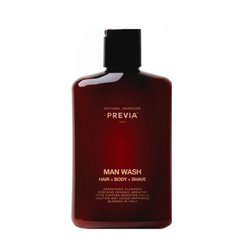 Previa Man Wash hair body shave 250ml - shampooing douche homme