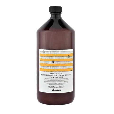 Davines Naturaltech Nourishing Vegetarian Miracle Conditioner 1000ml - Conditionneur restructurant