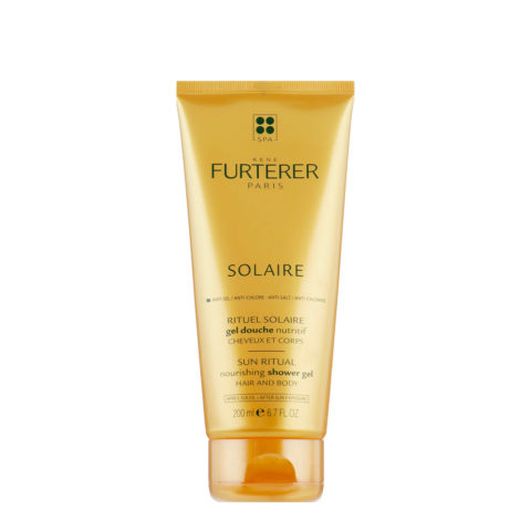René Furterer Solaire Nourishing Shower Gel Hair and Body 200ml - Gel douche nutritif cheveux et corps