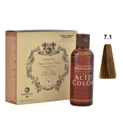 7.1 Blond cendré moyen Tecna NCC Biorganic acid color 3x130ml