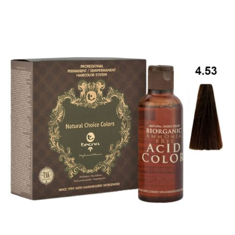 4.53 Châtain moyen wood intense Tecna NCC Biorganic acid color 3x130ml