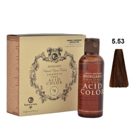 5.53 Châtain clair wood intense Tecna NCC Biorganic acid color 3x130ml