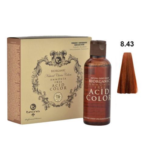 8.43 Blond clair cuivré doré Tecna NCC Biorganic acid color 3x130ml