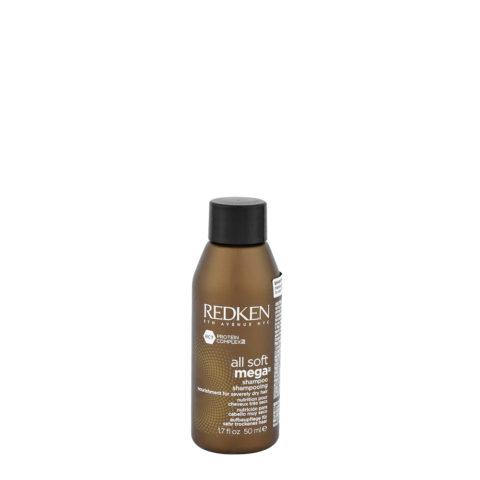 Redken All soft mega Shampoo 50ml - nourissant cheveux gros à épais et secs