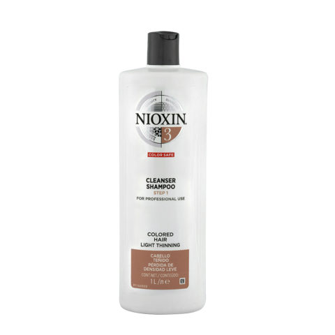 Nioxin System3 Cleanser Shampoo 1000ml - shampooing antichute